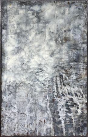 Hijo Nam, Meteora 4, 2015, Mixed media on Scrap Metal, 87x139cm