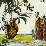 Wolf Hamm, Das Raunen, acrylic behind acrylic glass 90x140 2014