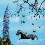 Wolf Hamm, Vom sein und nicht sein, acrylic behind acrylic glass, 50 x 50 2014