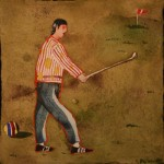 Pliarides,Untitled 11,2007,wtcl on ppr,14,6x14,6cm