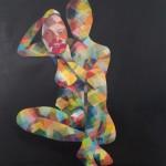 tropaeolum speciosum,oil_pigments on canvas,80x80cm,2018
