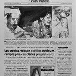 017 El Mundo_16 August 1992_Front Page_Inkwash on paper_51x66cm
