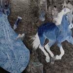 Diatopos-H.Pavlopoulou-Der Blaue Reiter 160x200cm
